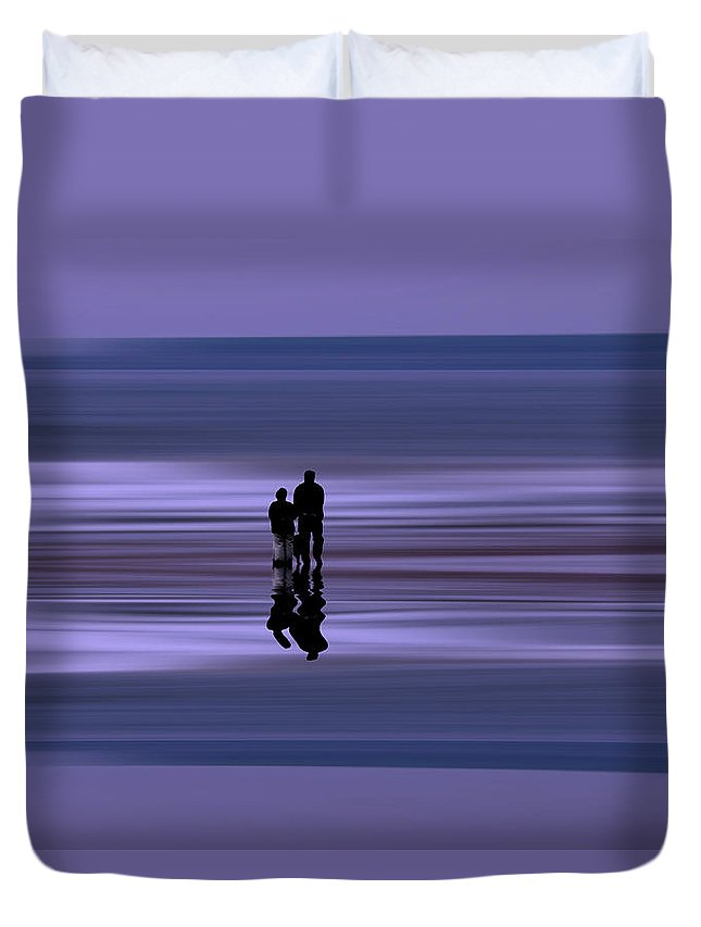 Coastal Abstract Duvet Cover featuring the photograph Coastal Abstract by David Pringle