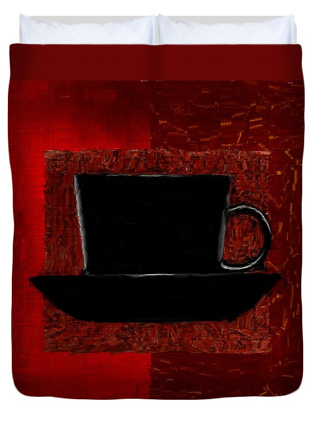 Coffee Duvet Cover featuring the digital art Coffee Passion by Lourry Legarde