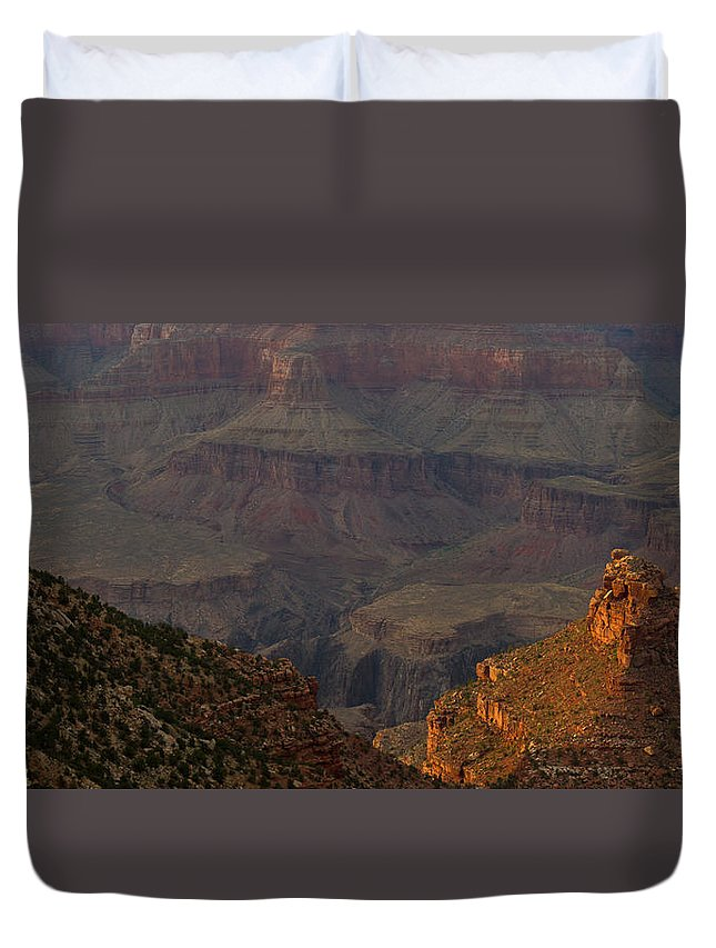 Grand Canyon Duvet Cover featuring the photograph Colorful Canyons by Kathleen Odenthal