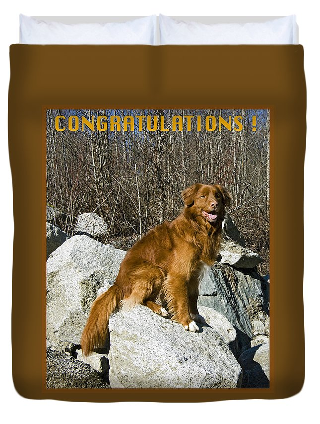 Congratulations Duvet Cover featuring the photograph Congratulations by Rob Mclean