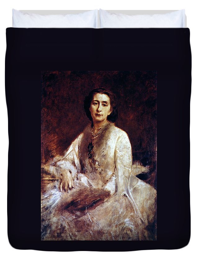 1879 Duvet Cover featuring the painting Cosima Wagner (1837-1930) by Granger