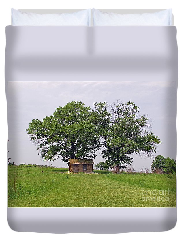 Scene Duvet Cover featuring the photograph Cozy Shack by Jamie Smith