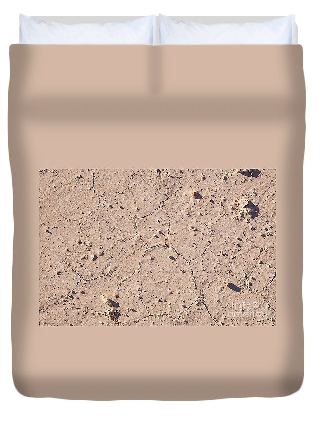 Lightning Ridge Duvet Cover featuring the photograph Cracked Ground by Tim Hester
