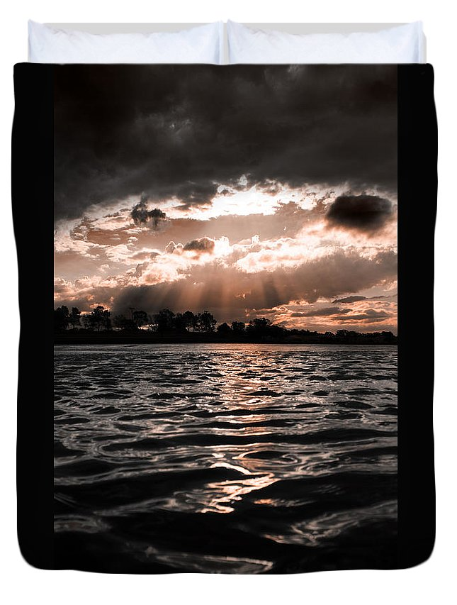 Atmospheric Duvet Cover featuring the photograph Dark Tranquility by Jorgo Photography - Wall Art Gallery