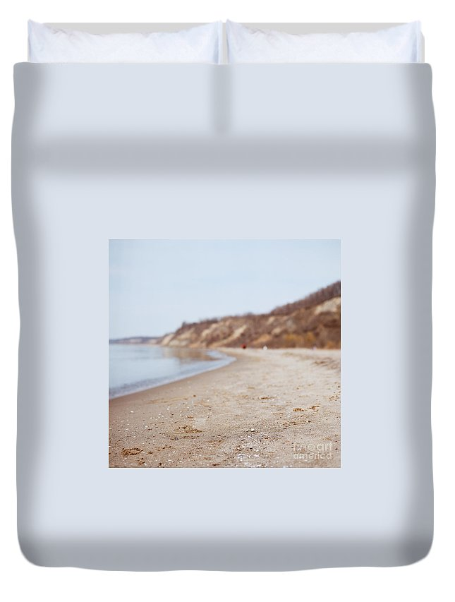 Beach Duvet Cover featuring the photograph Day At The Beach II by Mary Smyth