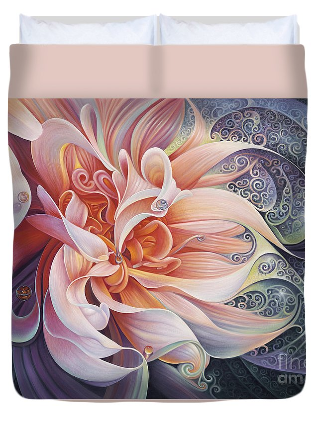 Curves Duvet Cover featuring the painting Delight by Ricardo Chavez-Mendez