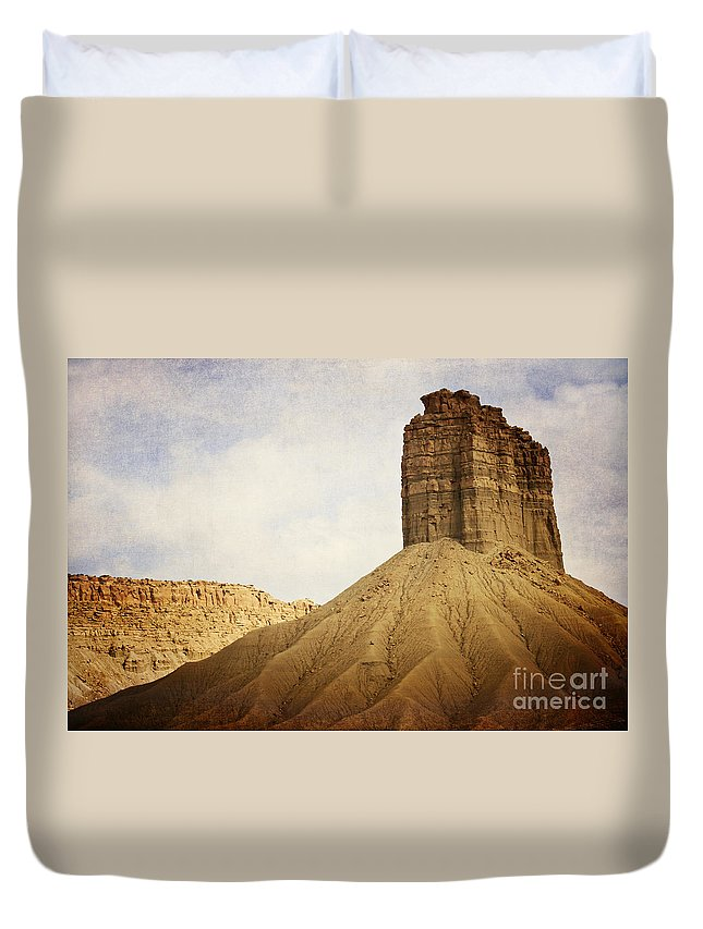 Desert Duvet Cover featuring the photograph Desert Landscape by Pam Holdsworth
