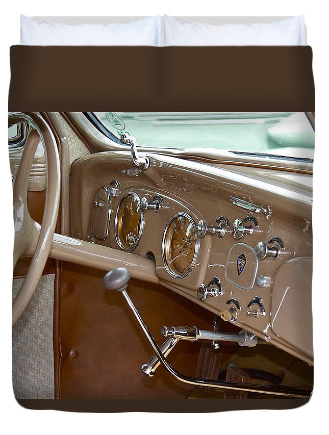 Antique Duvet Cover featuring the photograph Desoto by Jack R Perry