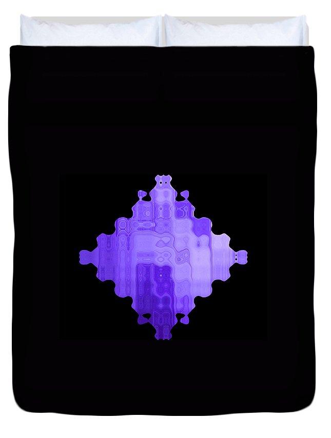 Symmetrical Duvet Cover featuring the painting Diamond 119 by J D Owen