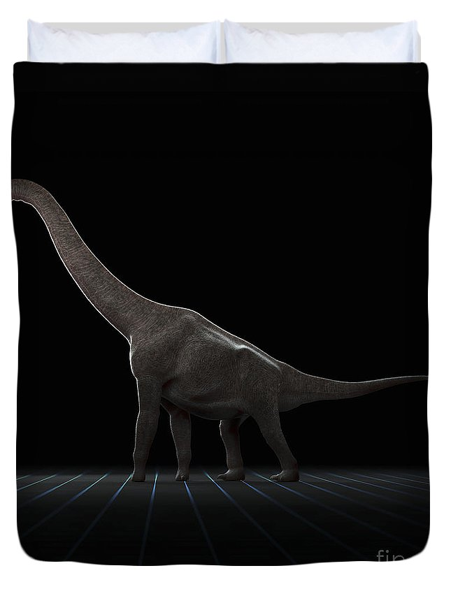 Evolve Duvet Cover featuring the photograph Dinosaur Brachiosaurus by Science Picture Co