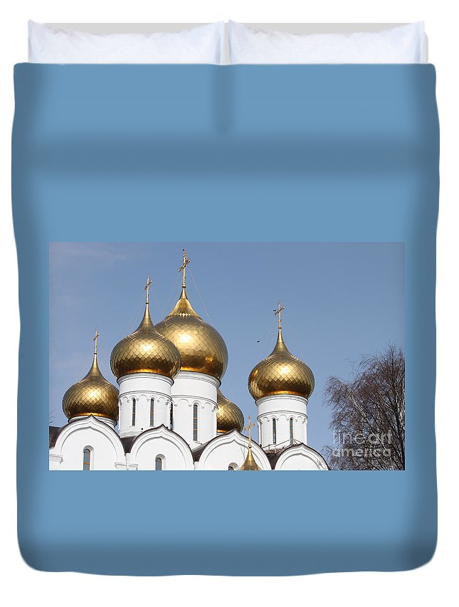 Dome Duvet Cover featuring the photograph Domes by Evgeny Pisarev