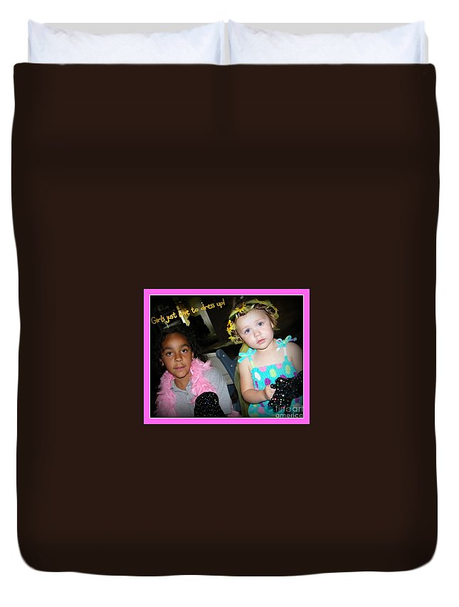 Dress-up Duvet Cover featuring the photograph Dress-up Time by Bobbee Rickard
