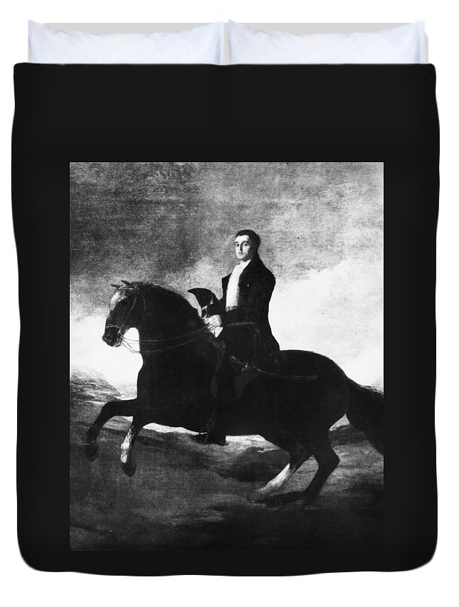 18th Century Duvet Cover featuring the painting Duke Of Wellington (1769-1852) by Granger