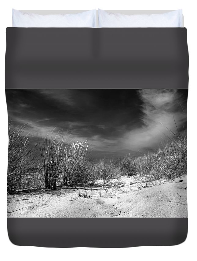 Ostsee Duvet Cover featuring the pyrography Dunas by Steffen Gierok