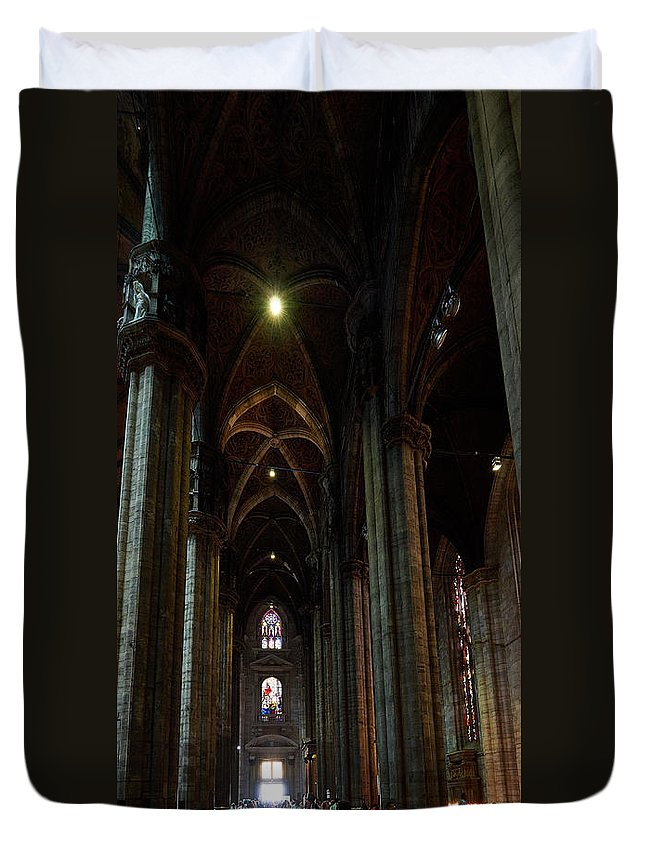 Francacorta Duvet Cover featuring the photograph Duomo. Milano Milan by Jouko Lehto