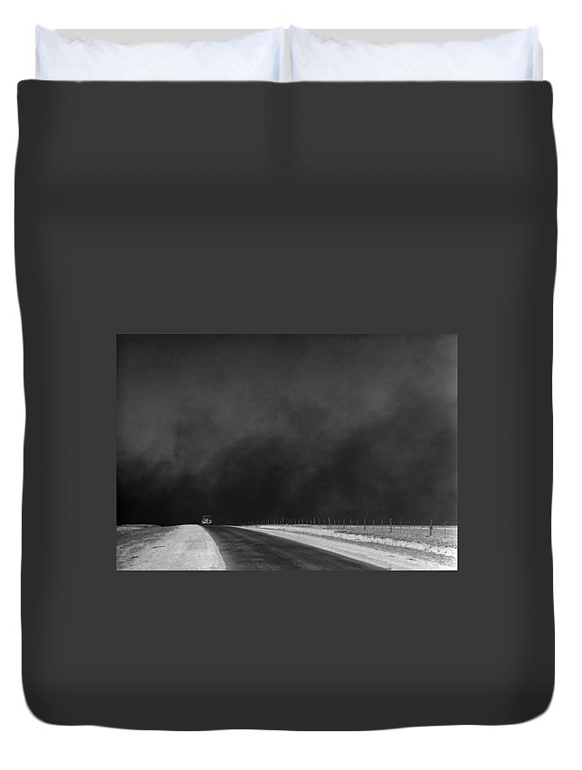 1936 Duvet Cover featuring the photograph Dust Bowl, 1936 by Granger