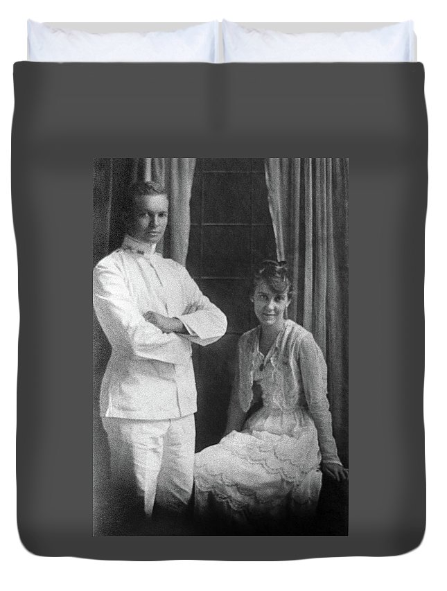 1915 Duvet Cover featuring the photograph Dwight D by Granger