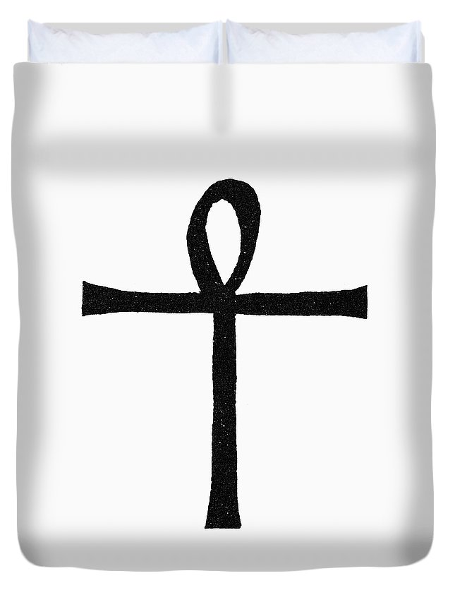 African Duvet Cover featuring the painting Egyptian Symbol Ankh by Granger