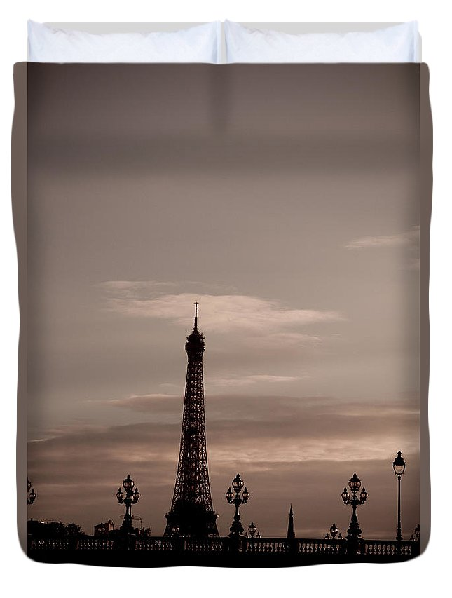 Eiffel Tower Duvet Cover featuring the photograph Eiffel Tower by Lana Enderle