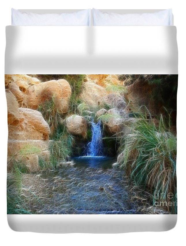 Ein Gedi Springs Duvet Cover featuring the photograph Eternal Youth by Doc Braham