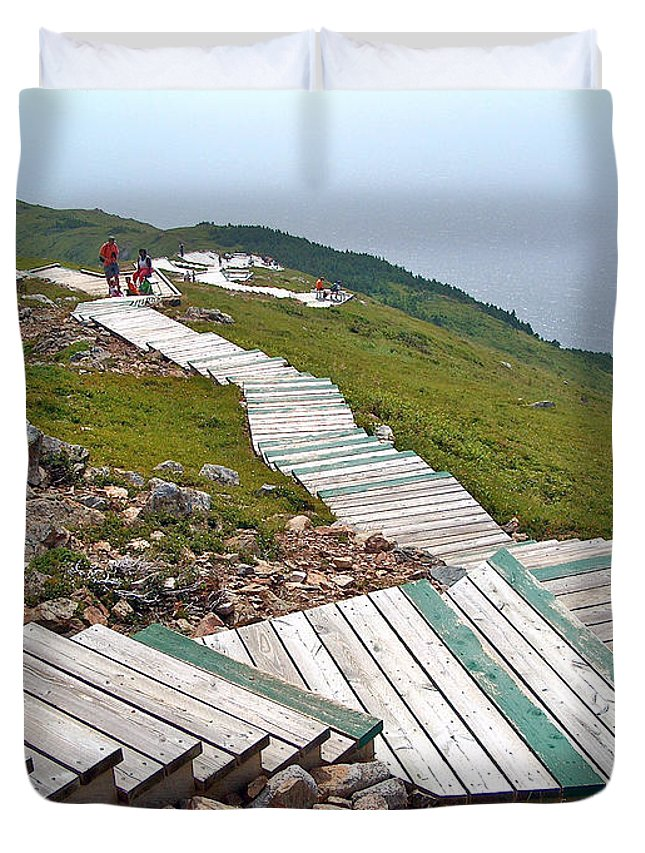 End Of Skyline Trail In Cape Breton Highlands Np Duvet Cover featuring the photograph End Of Skyline Trail In Cape Breton Highlands Np-ns by Ruth Hager