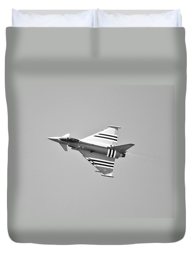 Eurofighter Duvet Cover featuring the photograph Eurofighter Typhoon by Maj Seda