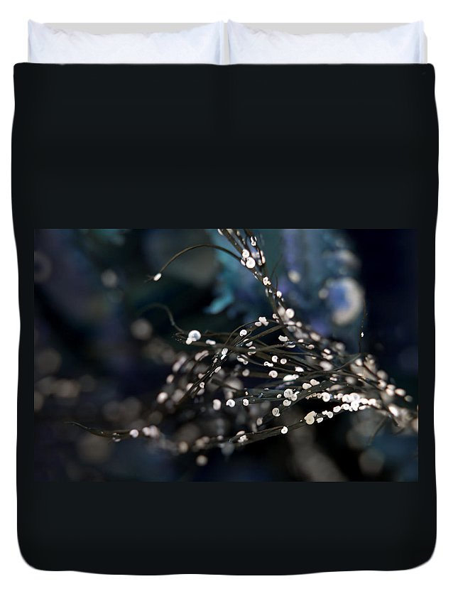 Abstract Duvet Cover featuring the photograph Feeling Blue by Michele Cornelius