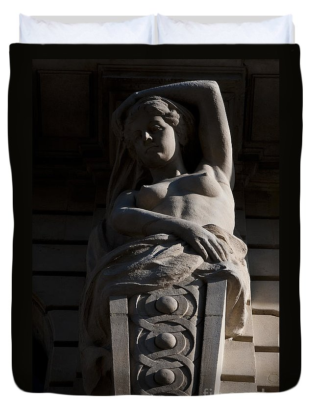 Female Duvet Cover featuring the photograph Female Sculpture by Lana Enderle