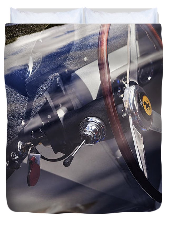 Cockpit Duvet Cover featuring the photograph Ferrari 250 Pininfarina Le Mans Berlinetta 1964 by Maj Seda