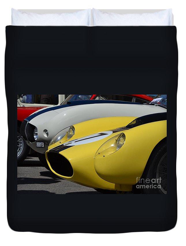 Duvet Cover featuring the photograph Ferrari Testerosa by Dean Ferreira