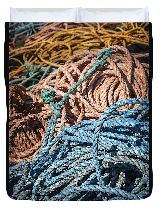 Ropes Duvet Cover featuring the photograph Fishing Ropes by Elena Elisseeva