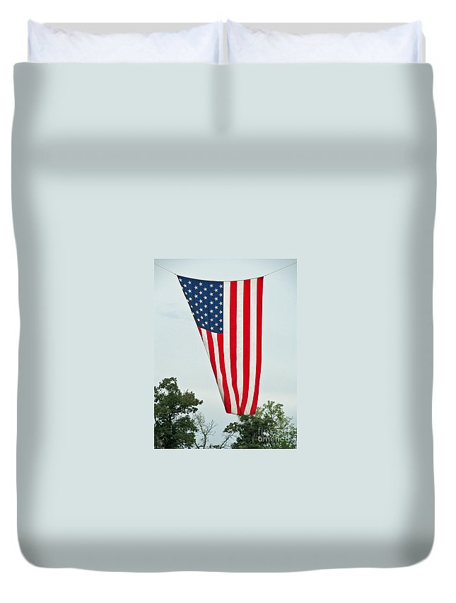 Flag Duvet Cover featuring the photograph Flag by Jamie Smith