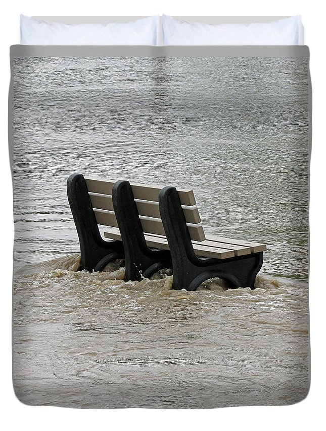 River Duvet Cover featuring the photograph Flooded Seat by Jamie Smith