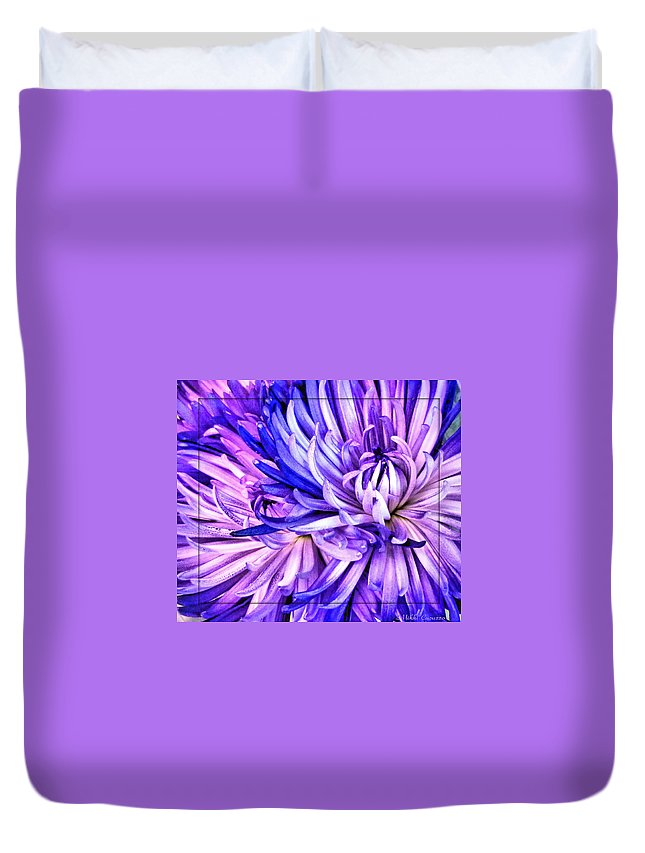 Floral Duvet Cover featuring the photograph Flower Closeup by Mikki Cucuzzo