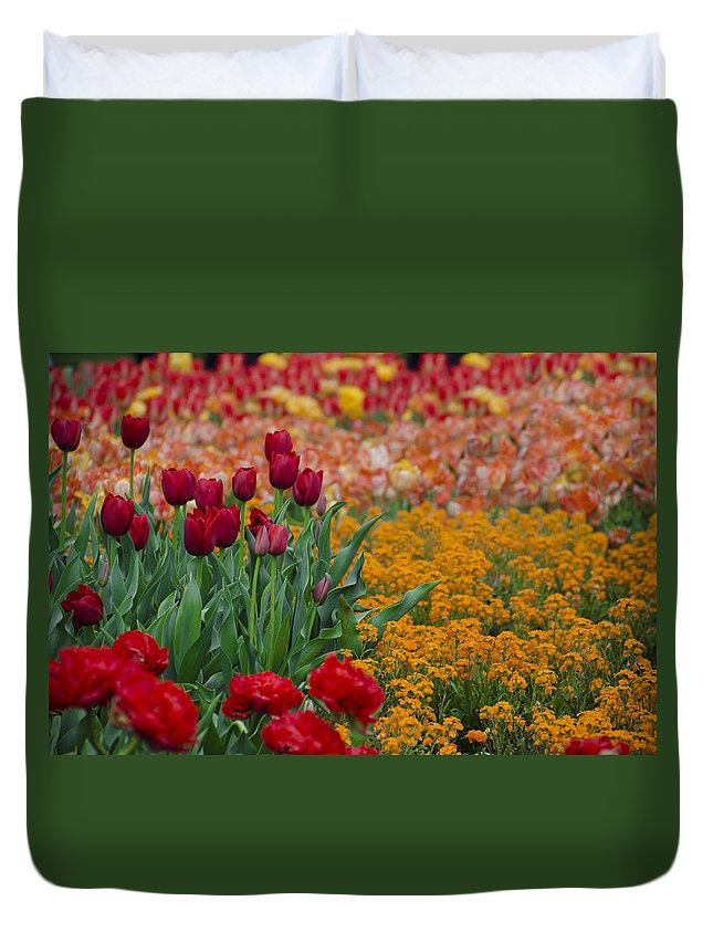 Flowers Duvet Cover featuring the photograph Flowers Everywhere by Bill Cannon