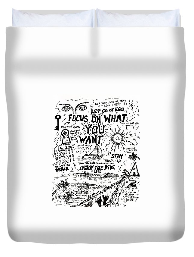 Focusdrawing Duvet Cover featuring the photograph Focus On What You Want 2 by Paul Carter