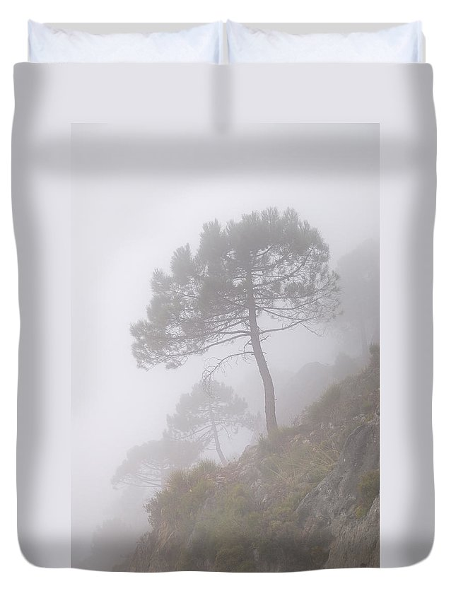 Retro Duvet Cover featuring the photograph Foggy Morning by Guido Montanes Castillo