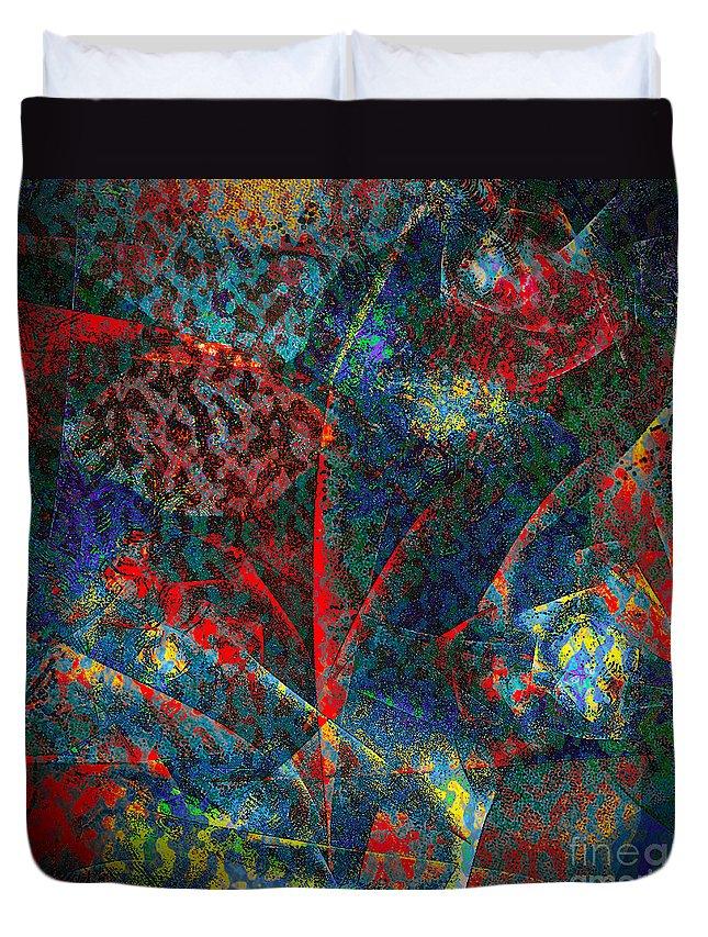 Flower Duvet Cover featuring the digital art Fractal Flower by Klara Acel