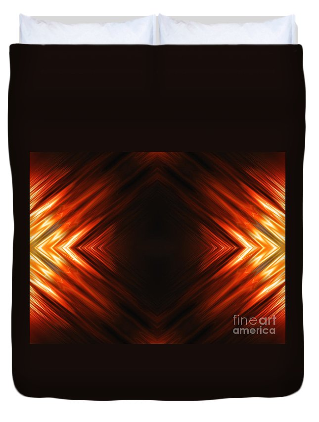 Abstract Duvet Cover featuring the digital art Fractal by Tudor Catalin Gheorghe