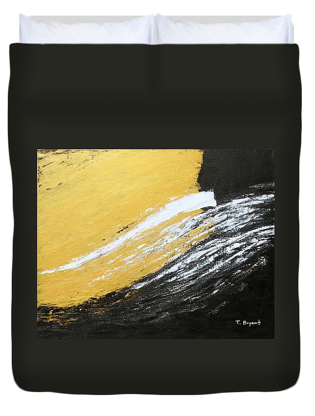 Gold Duvet Cover featuring the painting Free Spirit 2 by Kume Bryant