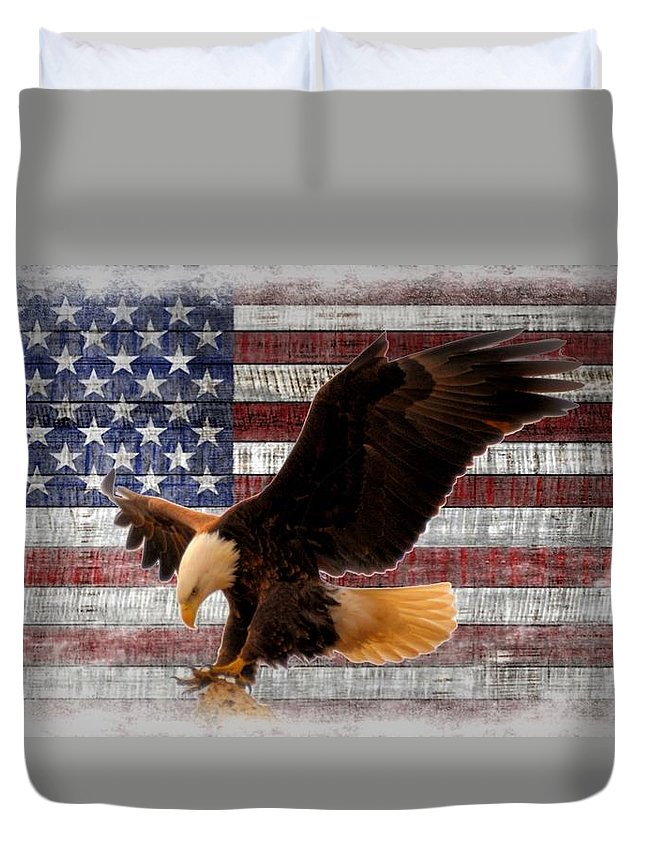 America Duvet Cover featuring the photograph Freedom by Bonfire Photography