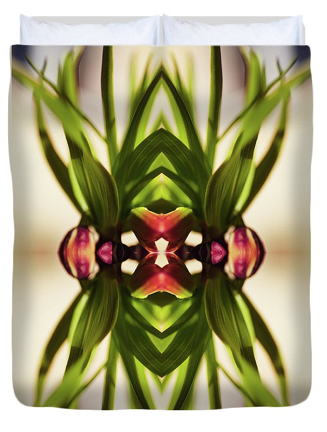 Fritillaria Duvet Cover featuring the photograph Fritillaria Flower Plant by Silvia Otte