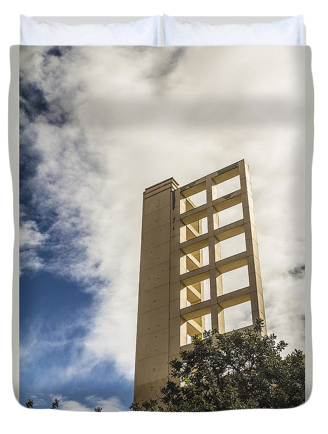 Duvet Cover featuring the photograph Fulton by Cj Avery