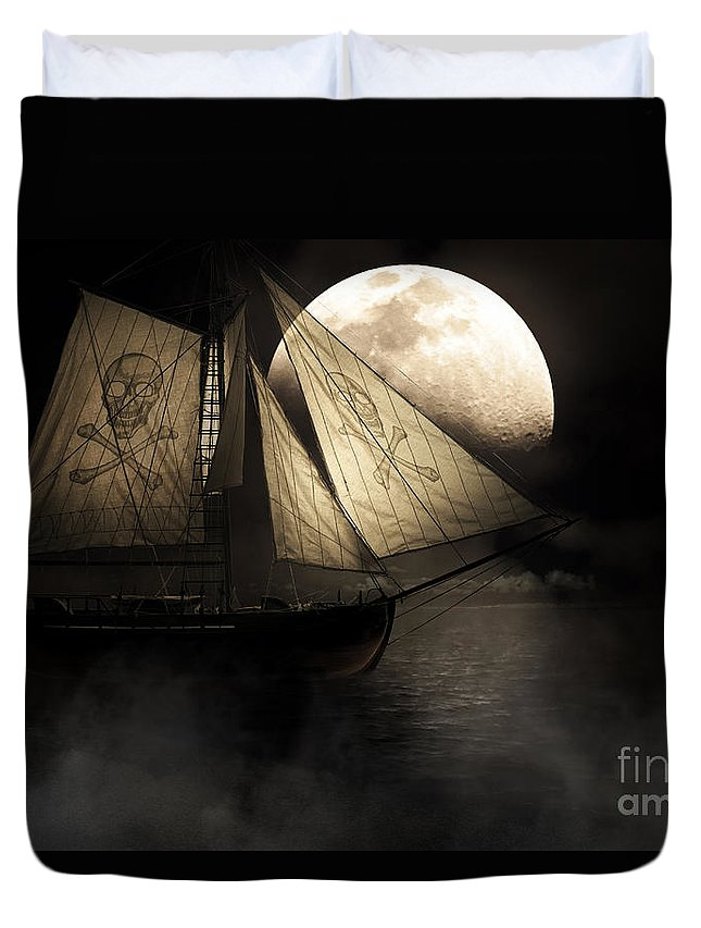 Black Duvet Cover featuring the photograph Ghost Ship by Jorgo Photography - Wall Art Gallery