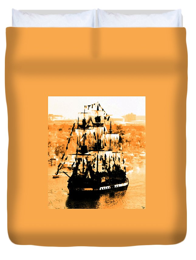 Jose Gasparilla Duvet Cover featuring the painting Ghosts Of Gasparilla by David Lee Thompson