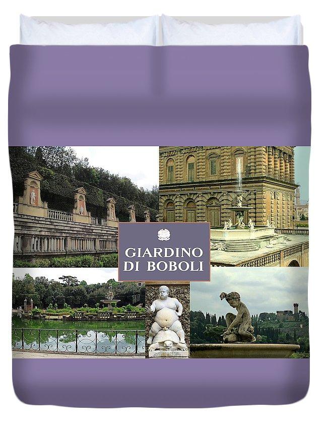 Giardino Di Boboli Duvet Cover featuring the photograph Giardino Di Boboli by Ellen Henneke