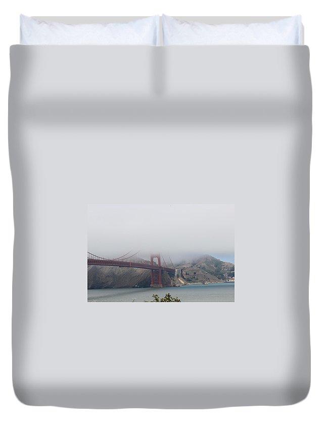 Golden Gate Bridge Duvet Cover featuring the photograph Golden Gate Bridge by Becca Buecher