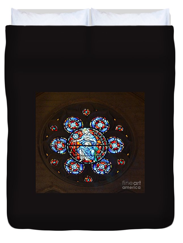 Grace Cathedral Duvet Cover featuring the photograph Grace Cathedral by Dean Ferreira