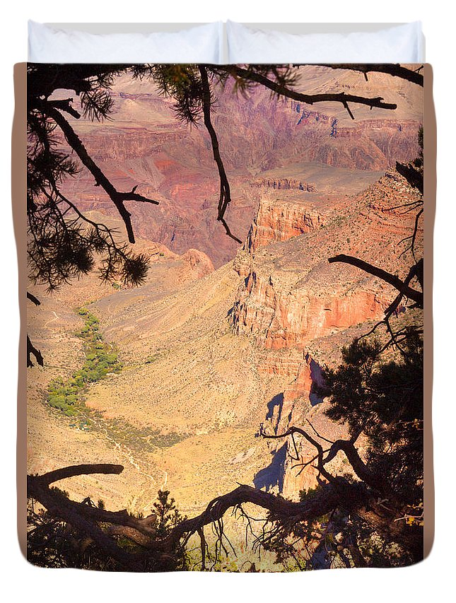 Grand Duvet Cover featuring the photograph Grand Canyon 34 by Douglas Barnett