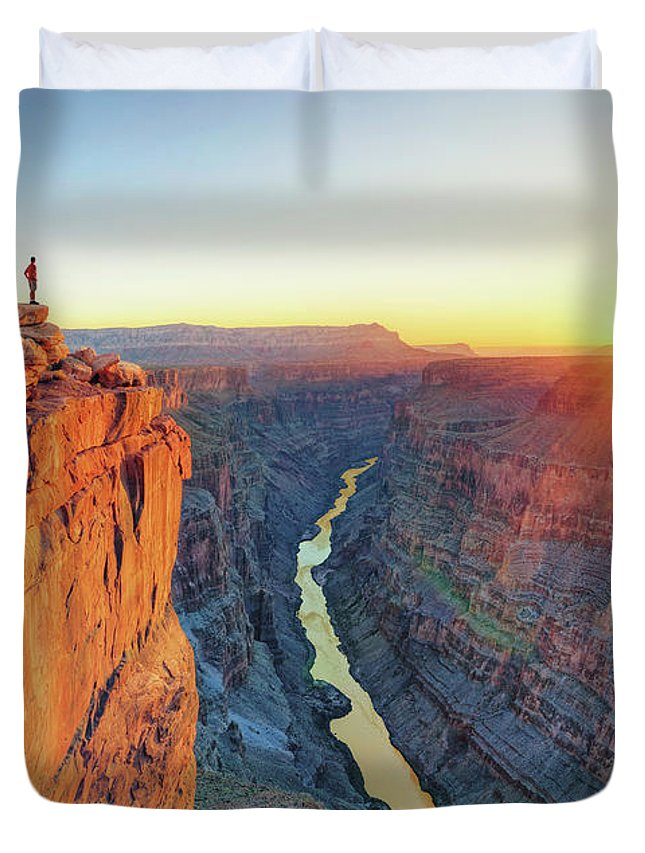 Scenics Duvet Cover featuring the photograph Grand Canyon, Toroweap Lookout by Michele Falzone